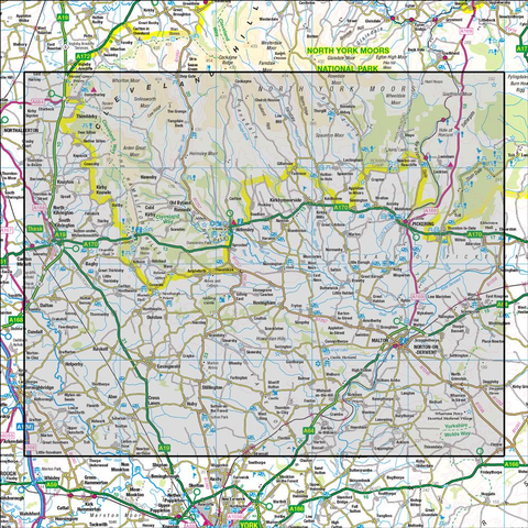 100  Malton & Pickering Helmsley & Easingwold - Anquet Maps
