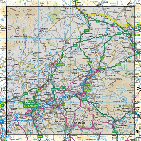 103 Blackburn & Burnley Clitheroe & Skipton - Anquet Maps