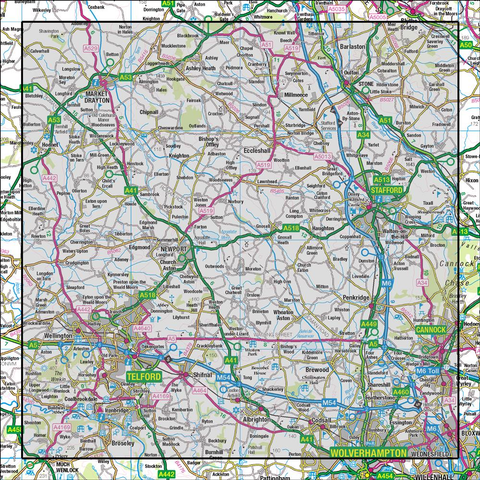 127 Stafford & Telford Ironbridge - Anquet Maps