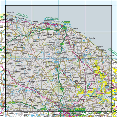 133 North East Norfolk Cromer & Wroxham - Anquet Maps
