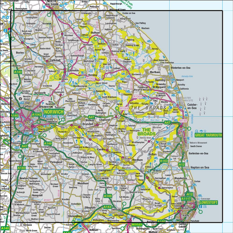 134  Norwich & The Broads Great Yarmouth - Anquet Maps