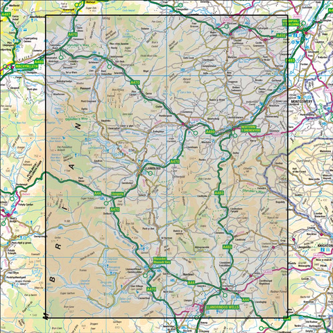 136 Newtown & Llanidloes - Anquet Maps