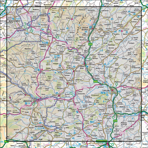 137 Church Stretton & Ludlow Wenlock Edge - Anquet Maps