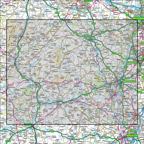138 Kidderminster & Wyre Forest - Anquet Maps