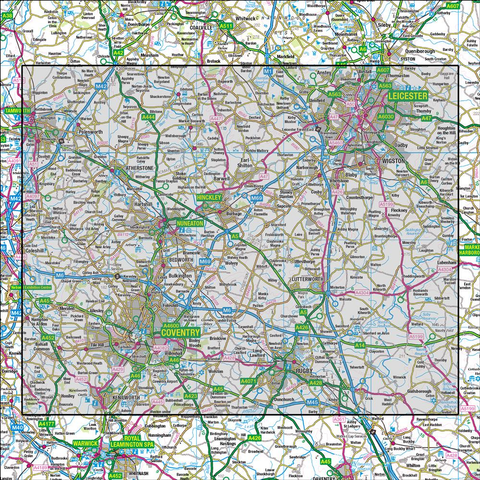 140 Leicester Coventry & Rugby - Anquet Maps