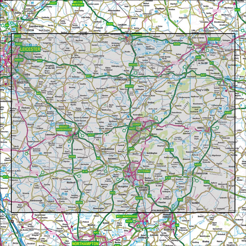 141 Kettering & Corby Market Harborough & Stamford - Anquet Maps