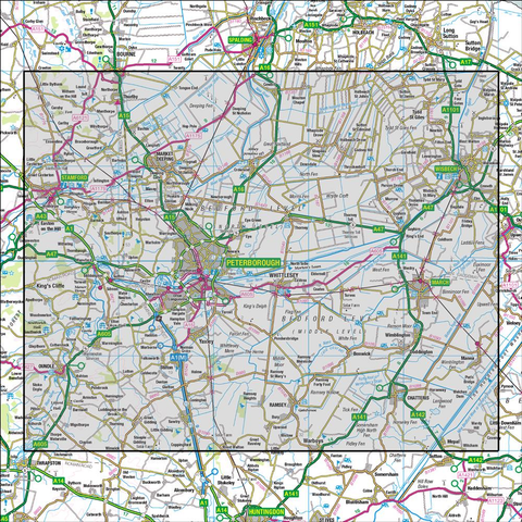 142 Peterborough Market Deeping & Chatteris - Anquet Maps