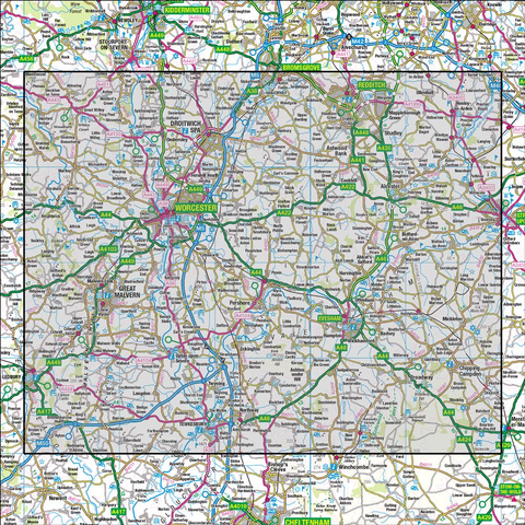 150 Worcester & The Malverns Evesham & Tewkesbury - Anquet Maps