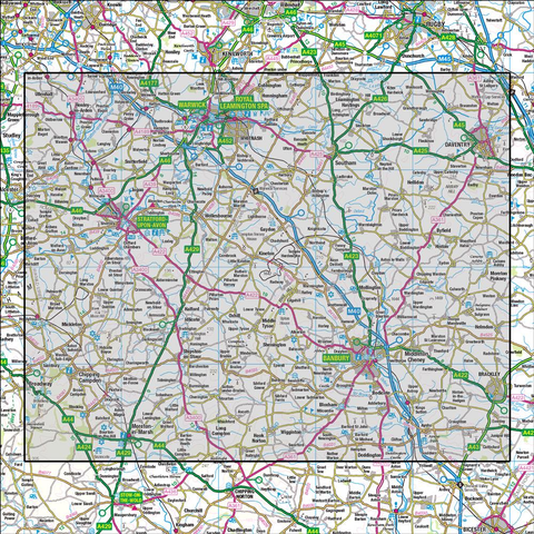 151 Stratford-upon-Avon Warwick & Banbury - Anquet Maps