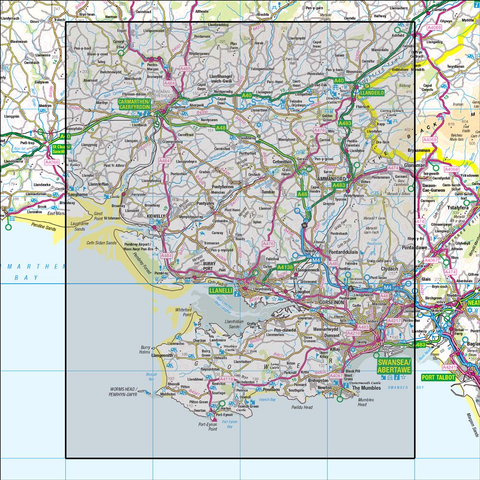 159 Swansea & Gower Carmarthen - Anquet Maps