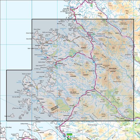 15 Loch Assynt Lochinver & Kylesku - Anquet Maps