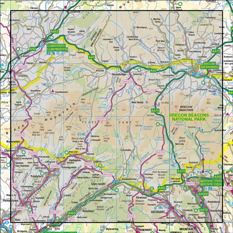 160 Brecon Beacons - Anquet Maps