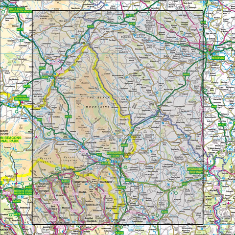 161 The Black Mountains Abergavenny - Anquet Maps