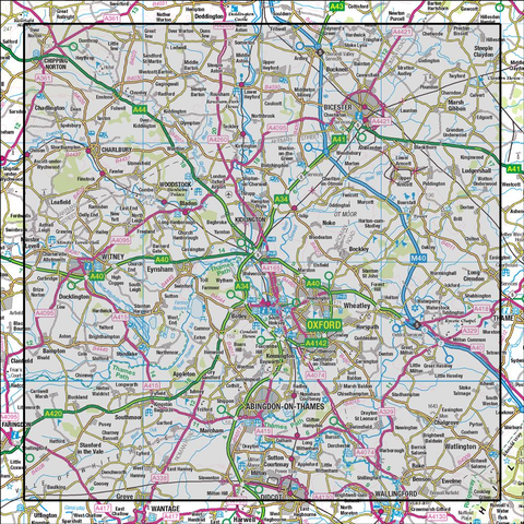 164 Oxford Chipping Norton & Bicester - Anquet Maps