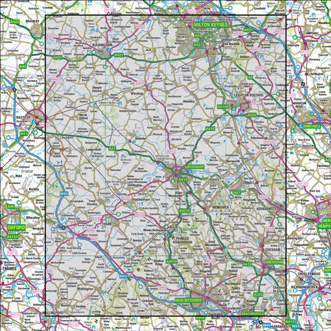 165 Aylesbury & Leighton Buzzard Thame & Berkhamsted - Anquet Maps