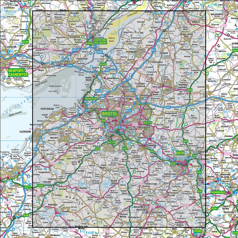 172 Bristol & Bath Thornbury & Chew Magna - Anquet Maps