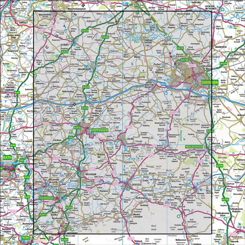 173 Swindon & Devizes Marlborough & Trowbridge - Anquet Maps