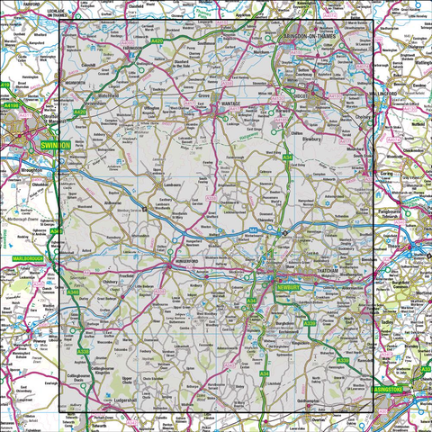 174 Newbury & Wantage Hungerford & Didcot - Anquet Maps