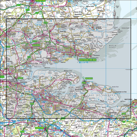 178 Thames Estuary Rochester & Southend-on-Sea - Anquet Maps