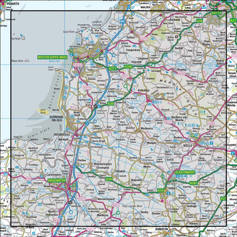 182 Weston-super-Mare Bridgwater & Wells - Anquet Maps