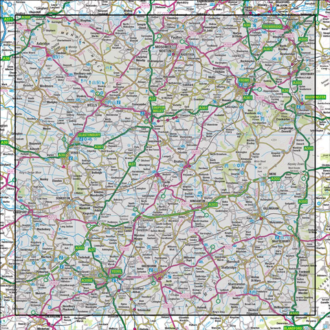 183 Yeovil & Frome Shaftesbury & Shepton Mallet - Anquet Maps