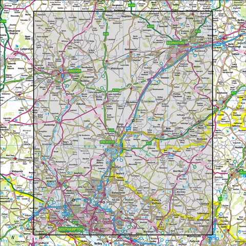 185 Winchester & Basingstoke Andover & Romsey - Anquet Maps