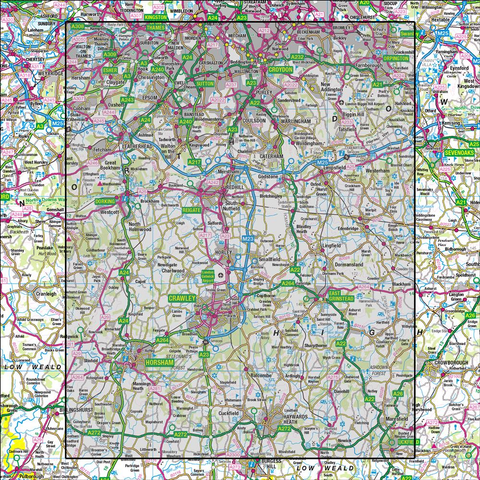 187 Dorking & Reigate Crawley & Horsham - Anquet Maps