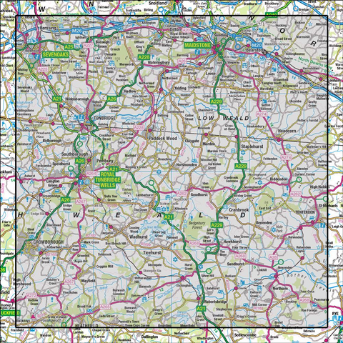 188 Maidstone & Royal Tunbridge Wells Sevenoaks & Tonbridge - Anquet Maps