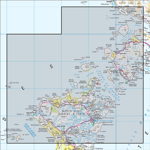 18 Sound of Harris North Uist, Taransay & St Kilda - Anquet Maps