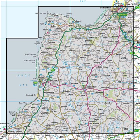 190 Bude & Clovelly Boscastle & Holsworthy - Anquet Maps