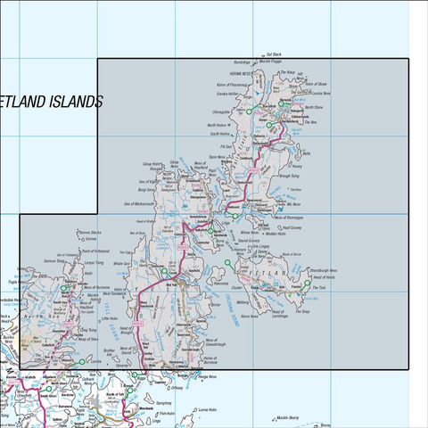 1 Shetland Yell, Unst & Fetlar - Anquet Maps