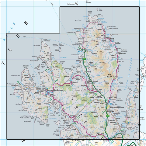 23 North Skye Dunvegan & Portree - Anquet Maps