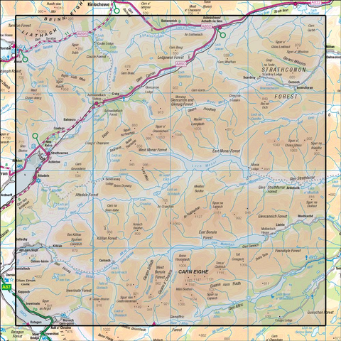 25 Glen Carron & Glen Affric - Anquet Maps