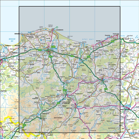 28 Elgin & Dufftown Buckie & Keith - Anquet Maps