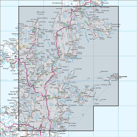 2 Shetland Sullom Voe & Whalsay - Anquet Maps