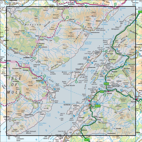 49 Oban & East Mull - Anquet Maps