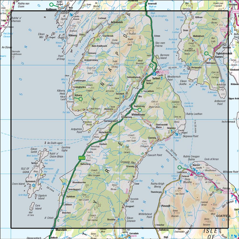 62 North Kintyre & Tarbert - Anquet Maps