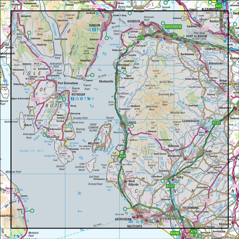 63 Firth of Clyde Greenock & Rothesay - Anquet Maps