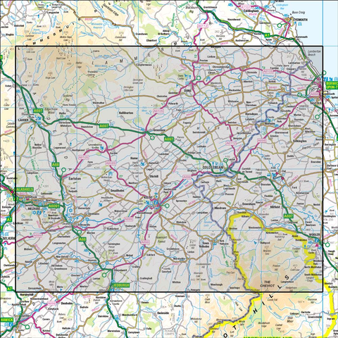 74 Kelso & Coldstream Jedburgh & Duns - Anquet Maps