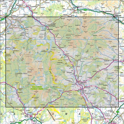 77 Dalmellington & New Galloway Galloway Forest Park - Anquet Maps
