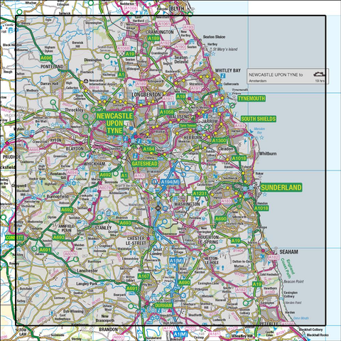 88 Newcastle upon Tyne Durham & Sunderland - Anquet Maps
