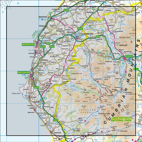 89 West Cumbria Cockermouth & Wast Water - Anquet Maps