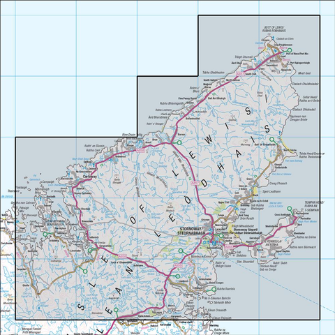 8 Stornoway & North Lewis - Anquet Maps