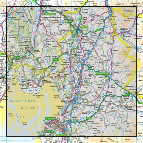 97 Kendal & Morecambe Windermere & Lancaster - Anquet Maps