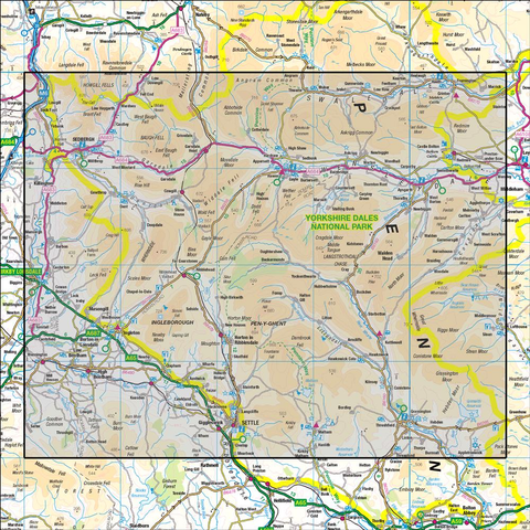 98 Wensleydale & Upper Wharfedale - Anquet Maps