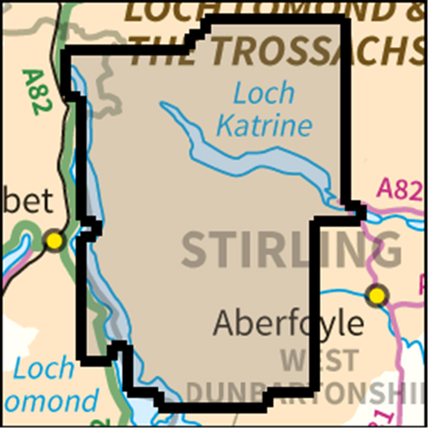 SW Ben Lomond and Loch Katrine - Anquet Maps