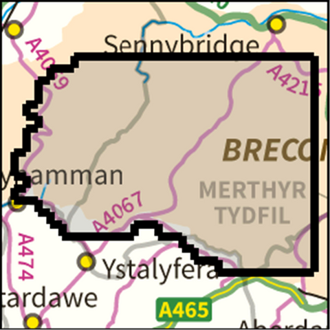 SW Brecon Beacons West - Anquet Maps