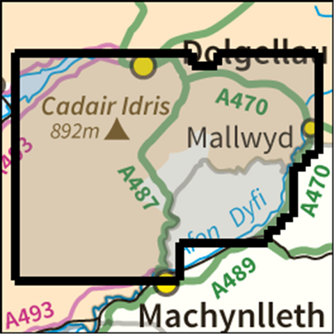 SW Cadair Idris - Anquet Maps
