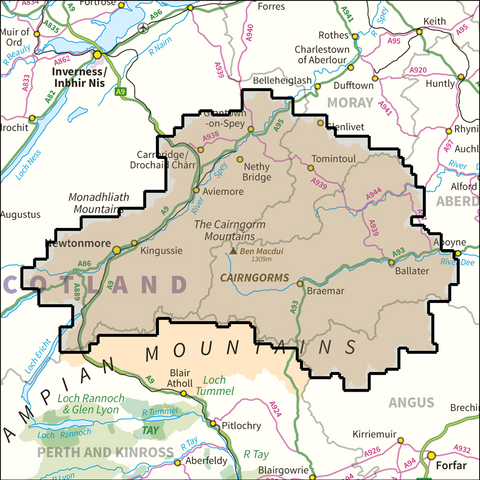 Cairngorms National Park - Anquet Maps
