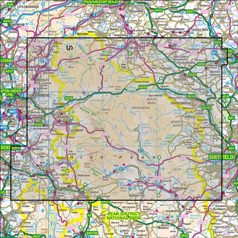 OL1 Peak District - Dark Peak Area Historical Mapping - Anquet Maps